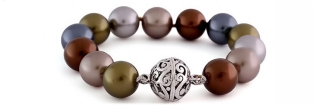 Bali silver product photography with pearls